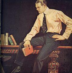Men's Fashion Illustration (Detail), by J.C. Leyendecker