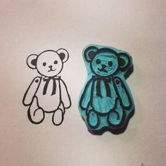 Sello little bear stamp