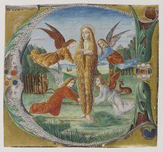 Ste Marie Madeleine entourée d'anges, Maestro del Salomone Wildenstein, fin XVe siècle, ©RMN Grand Palais