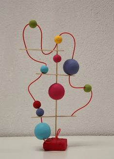 Game or Sculpture? With sticks and toothpicks build a sculpture as a game.  You need: