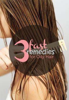 Quick & Easy Remedies for Oily Hair  Oily hair can be a pain. You wash, brush and style it, only to have it look stringy and greasy what feels like minutes later. Dealing with oily hair can feel like a losing battle, but it doesn't have to be. These quick and easy tips will keep your luscious locks looking beautiful all day long.