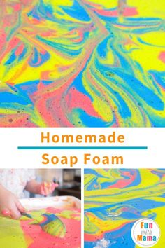 This DIY Sensory Foam Play Recipe is a great sensory activity for the kids. They'll be able to follow directions and feel their way through it all.