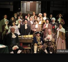 At Tony's dinner theater and show. These are all the characters in act 1776.