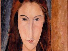Modigliani, Jeanne He?buterne, moglie dell'artista, 1918.