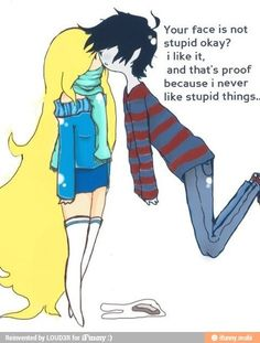 Marshall Lee and Fionna but I prefer Fionna and Flame Prince