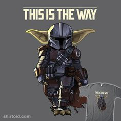 Baby Mando from ShirtPunch Star Wars Pictures, Star Wars Images, Star Wars Facts, Star Wars Humor, Regalos Star Wars, Guerra Dos Clones, Day Of The Shirt, Mandalorian Armor, Star Wars Baby