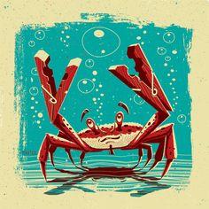 Crab on Behance