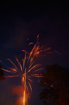 Feuerwerk mit Langzeitbelichtung