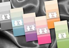 36 Hershey's Mini Candy Wrappers Ombre Wedding by NecessiTees, $9.95
