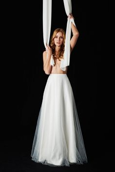 EMANUEL HENDRIK | MIX & MATCH - 2017 | FRONT | SKIRT | JESSICA | made in Düsseldorf - Germany | IVORY - Tulle - Long | Long Tulle Skirt in ivory| Wedding - Destination - Beach - Festival - Wild - Party - Boho - Vintage - Barn - Glamour - Hollywood | Wedding Dress | Fashion - Bridal Couture - Evening