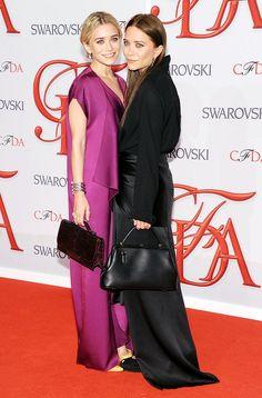 Ashley and Mary-Kate Olsen at CFDA