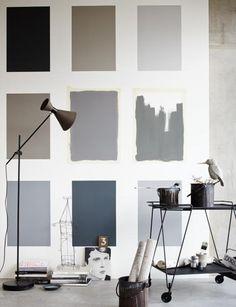 Die richtige Wandfarbe finden mit einem Farbtest