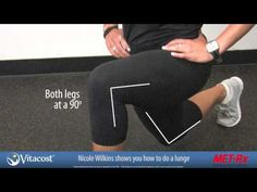Nicole Wilkins Vitacost Fit Tip - Lunges