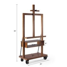 Easel Tv Stand, Diy Tv Stand, Walnut Tv Stand, Solid Wood Tv Stand, Rolling Tv Stand, Tv Stand And Entertainment Center, Woodworking Furniture Plans, Woodworking Videos, Woodworking Projects