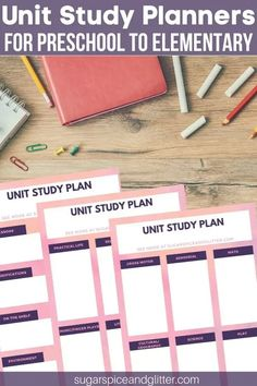Free Unit Study Planners to help make your curriculum planning easier, and ensure you don't miss any subjects or modifications Back To School Hacks, Back To School Gifts, School Ideas, Educational Activities For Kids, Montessori Activities, Positive Parenting Solutions, Parenting Tips, Curriculum Planning, Study Planner