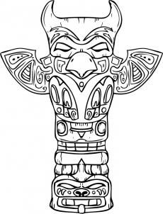 How to Draw a Totem Pole, Step by Step, Tattoos, Pop Culture, FREE Online Drawing Tutorial, Added by Dawn, May 19, 2009, 1:50:09 pm