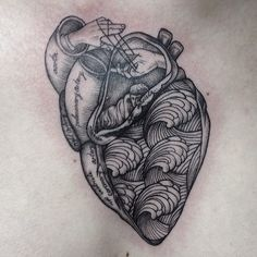 lovely anatomical heart tattoo (the hands playing cats cradle!)