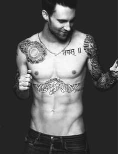 Adam Levine of Maroon 5 shirtless Maroon 5, Look At You, How To Look Better, Just For You, Pretty People, Beautiful People, Beautiful Things, Celebrity Gallery, Celebrity List