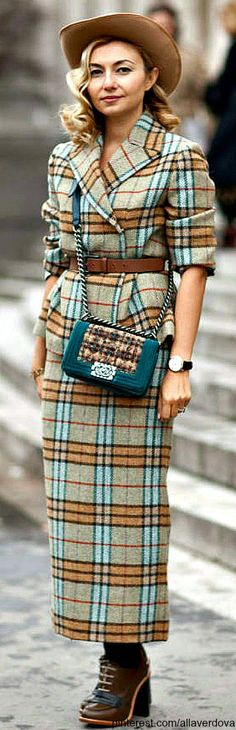 I couldn't do the maxi skirt but love it from the waist up / Street style - Nasiba Adilova - Chanel bag and Emilia Wickstead coat