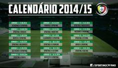 Aqui está o calendário do Sporting Clube de Portugal na I Liga para a época 2014/15.  Opiniões?  NOTA: Datas não definitivas.  #sporting #SportingClubePortugal #sportingfans