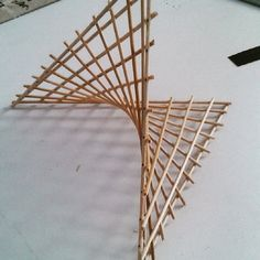 backyard designs – Gardening Ideas, Tips & Techniques Bamboo Architecture, Architecture Details, Bamboo Structure, Roof Structure, 3d Art Projects, Natural Structures, Tensile Structures, Parametric Design, Geodesic Dome