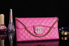New York Chanel iPhone 6 / 6 Plus Leather Wallet Case - Women's Fashion - Pink - LeatheriPhone6Cases.com
