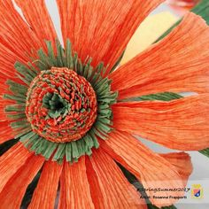 """Intense Orange Holand"" is the name of this new crepe paper color. Choose it in SpringSummer 2017 Collection by Cartotecnica Rossi. - Paperartist: Rosanna Frapporti"