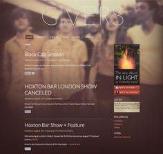 website design - large background
