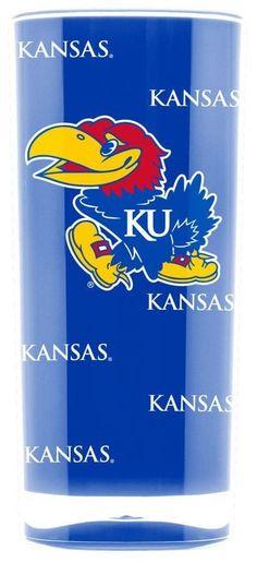 TWO 16oz KANSAS JAYHAWKS, INSULATED, SQUARE TUMBLERS FROM DUCKHOUSE SPORTS #DuckhouseSports #Kansas