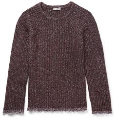 VALENTINO Cotton-Trimmed Wool-Blend Sweater. #valentino #cloth #knitwear
