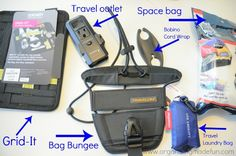 travel gadgets organized