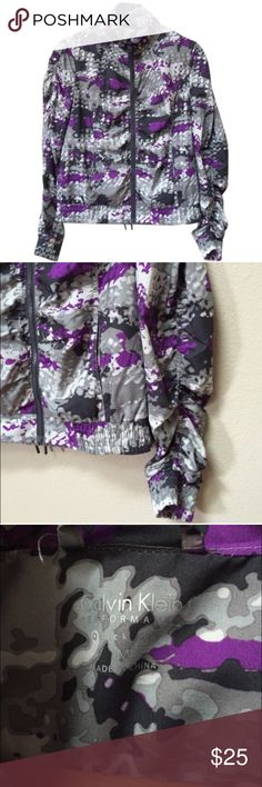 Calvin Klein Performance quick dry jacket This is a Calvin Klein Performance quick dry lightweight jacket in excellent condition. Size medium. There are two front pockets. Fabric includes 100% polyester for the body and the lining. Calvin Klein Jackets & Coats