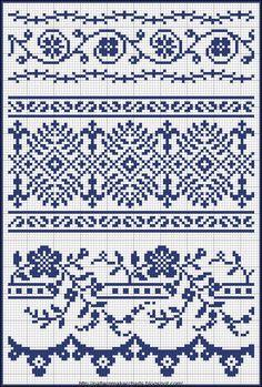Esses eu encontrei no blog da amiga Dinha.  Podem ser usados em Ponto Cruz ou em crochê. Adorei  Quer ver a postagem original? Clica AQUI   ...