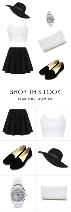 """""""black and white walk"""" by samra-alic ❤ liked on Polyvore featuring косметика, Polo Ralph Lauren, Topshop, Rolex и GUESS"""