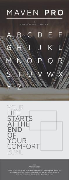 Clean, modern, free sans serif font