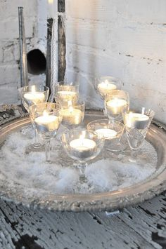 winter candelight