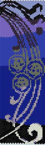 BPBS0002 Black Swirl Even Count Single Drop Peyote Cuff/Bracelet Pattern
