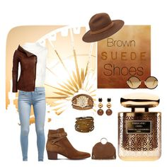 """""""#brown #suede #shoes"""" by vickyshandcrafteddesigns on Polyvore featuring Yves Saint Laurent, Levi's, Sunday Somewhere, Keepsake the Label, rag & bone, Kahuna, Marni, By Terry and Sif Jakobs Jewellery"""