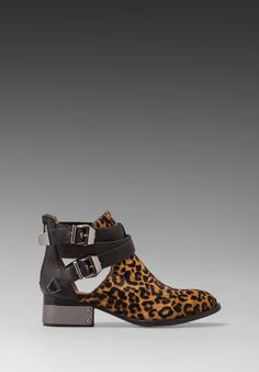 JEFFREY CAMPBELL Everly Bootie in Cheetah/Black -