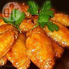 Vietnamese Golden Chicken Wings - Give oven-roasted chicken wings authentic Vietnamese flavor with a tasty marinade of garlic, lemon juice, soy sauce, sesame oil, and fish sauce. Chicken Wings Spicy, Chicken Wing Recipes, Low Carb Chicken Wings, Parm Chicken, Spicy Wings, Breaded Chicken, Marinated Chicken, Garlic Chicken, Roasted Chicken