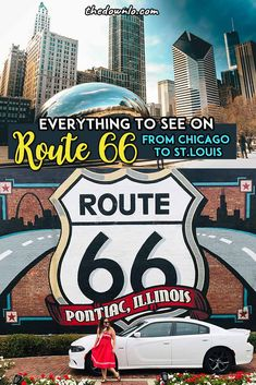 Planning a Route 66 road trip for Instagram photography? Here's a drive guide itinerary from Chicago to St. Louis with every neon sign, historic attractions, bar, restaurants, diner, cars, gas station, and vintage must-see in Illinois. Pictures, tips and photos to inspire your trip down the Mother Road from food stops to photoshoot locations. Ideas for bucket list travel and adventure road trips. #route66 #rute66 #bucketlists #america  #roadtrip