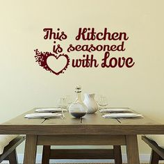 Charmant Wall Decals This Kitchen Is Seasoned With Love Decal Vinyl Sticker Heart  Home Decor Interior Design