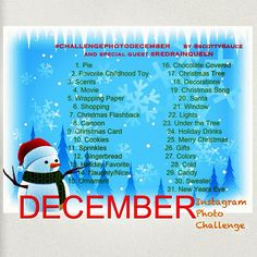 If you're on Instagram this December Photo Challenge is a must!