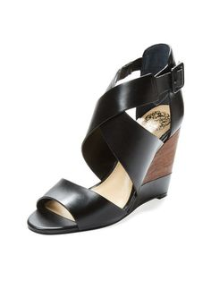 Milena Leather Wedge by Vince Camuto at Gilt