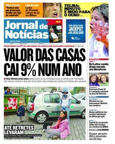 Capa da edição desta sexta-feira, 27 de abril, do JN. Destaque para os desenvolvimentos na Es.Col.A da Fontinha e para Telma Monteiro, que voltou a sagrar-se campeã europeia de judo.