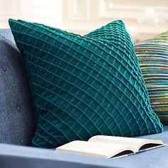 Textured Velvet Throw Pillow