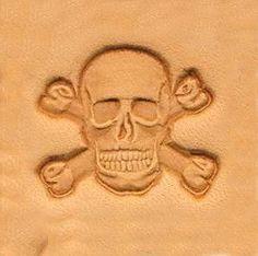 Skull & Cross Bones Leather Stamp Tool