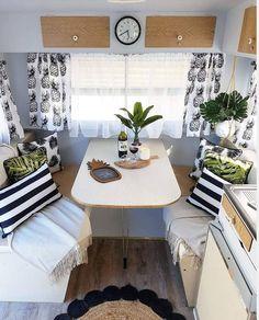 caravan ideas 592364157222375642 - 35 Monochrome RV Decor Idea for a nice ambiance – # … – Wohnwagen – Source by Decor, Camping Chuck Box, Camper Makeover, Interior, Caravan Decor, Rv Decor