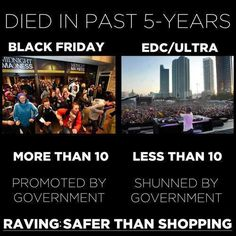 raving is safer than shopping.