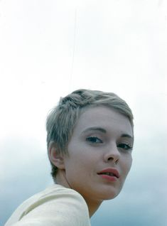 "Jean Seberg during the filming of ""La Récréation"" photographed by Peter Basch, 1961"